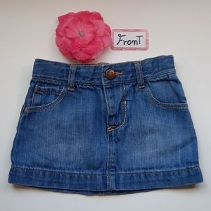 Old Navy Jean Skirt for girls 12-18 months